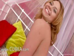 czech blondie fingering snatch